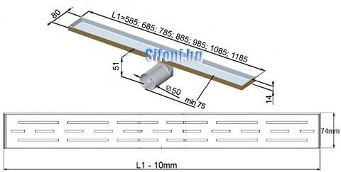 lentov sifon za banq - razmeri klasik copy