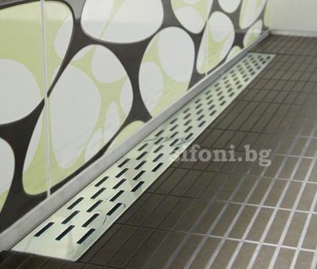 lineini podovi sifoni za vgrajdane v stena pravougulnik 1