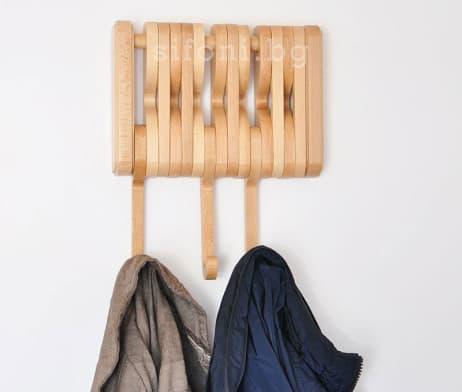 FLEXY Сгъваема Дървена Закачалка за Дрехи - Коридор, Антре, Врати